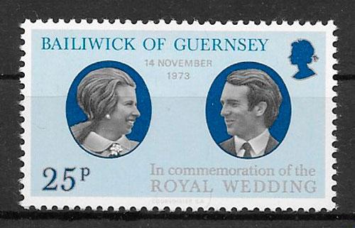 sellos personalidades 1973 Guernsey
