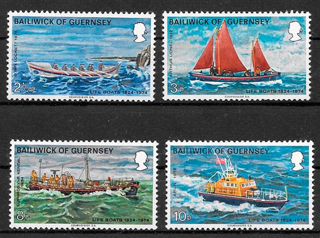 sellos transporte 1974 Guernsey