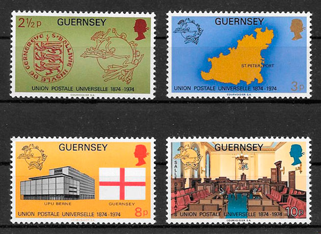 filatelia temas varios Guernsey 1974