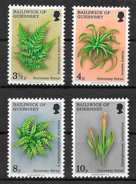 filatelia colección flora 1975 Guernsey