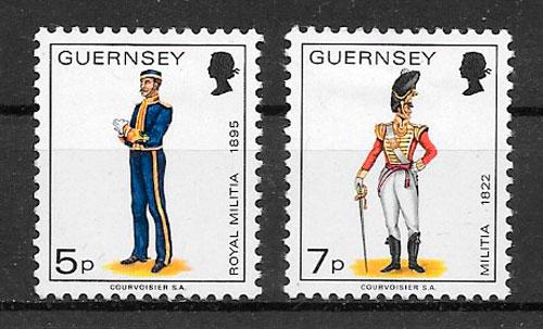 filatelia temas varios Guernsey 1976