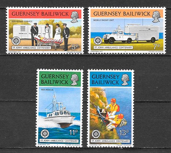 filatelia transporte Guernsey 1977