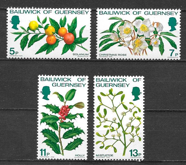colección sellos navidad 1978 Guernsey