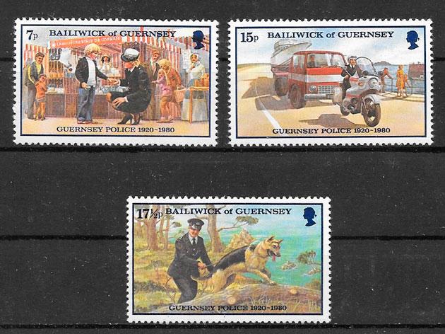 filatelia colección temas varios Guernsey 1980