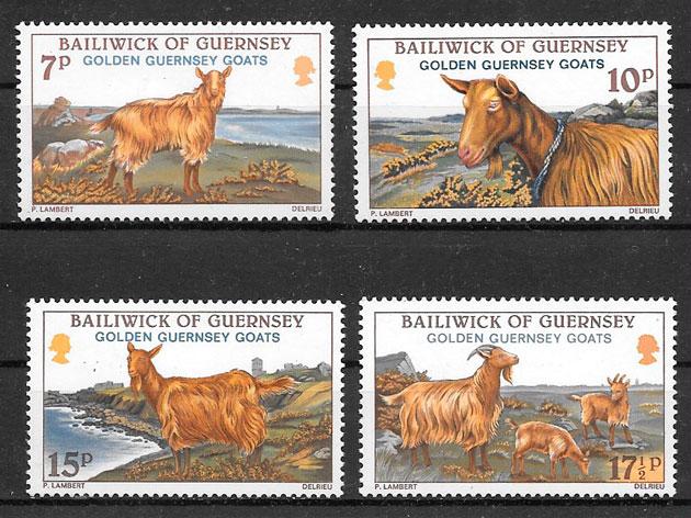 filatelia colección fauna 1980