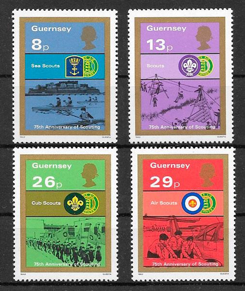 filatelia colección temas varios Guernsey 1982