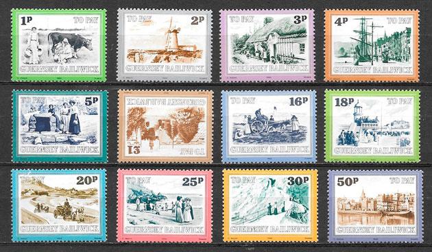 colección selos temas varios Guernsey 1982