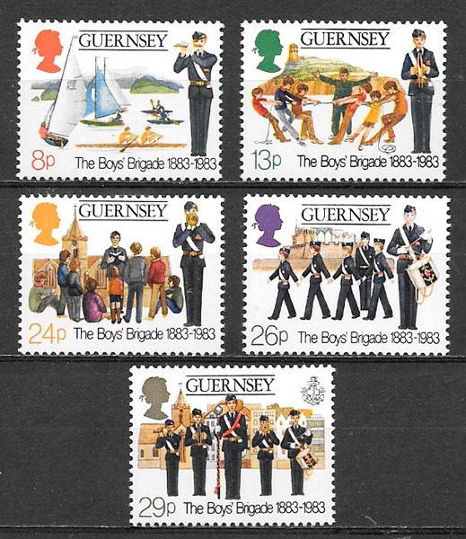 colección sellos temas varios Guernsey 1983