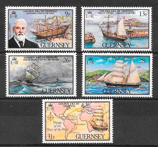 sellos transporte Guernsey 1983