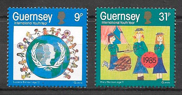 filatelia temas varios Guernsey 1985