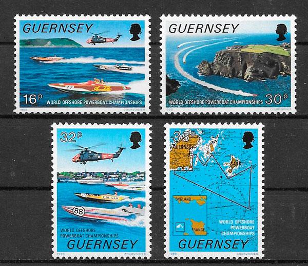 colección sellos deporte Guernsey 1988