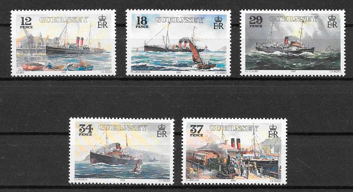 sellos transporte Guernsey 1989