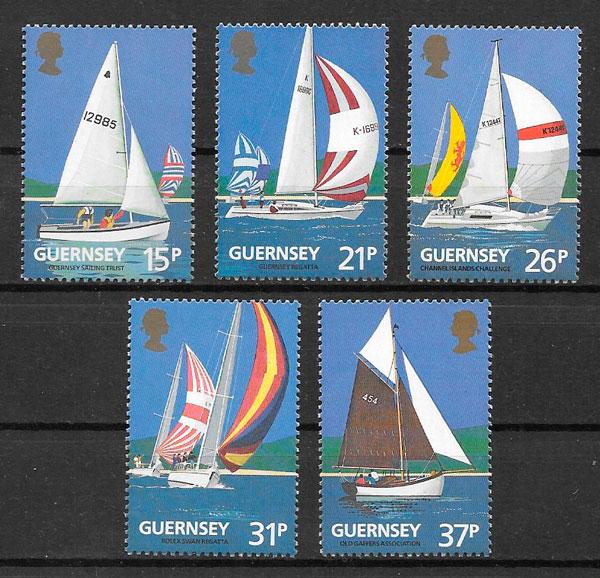 sellos deporte Guernsey 1991