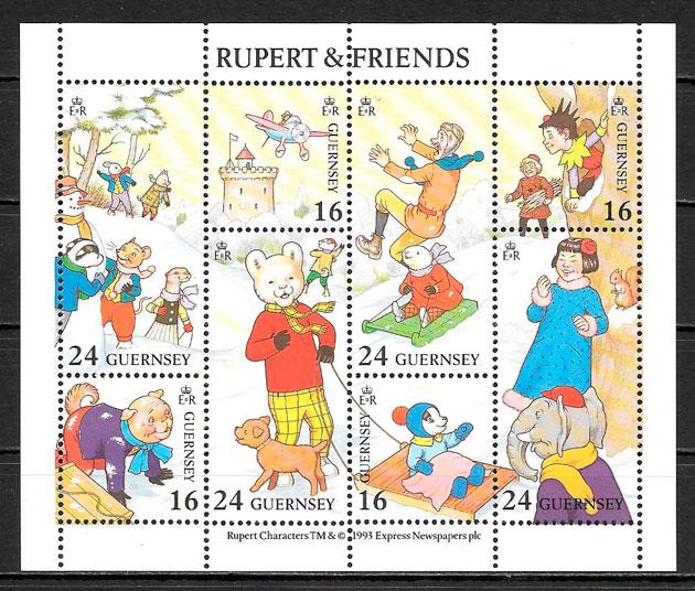 filatelia navidad Guersey 1993