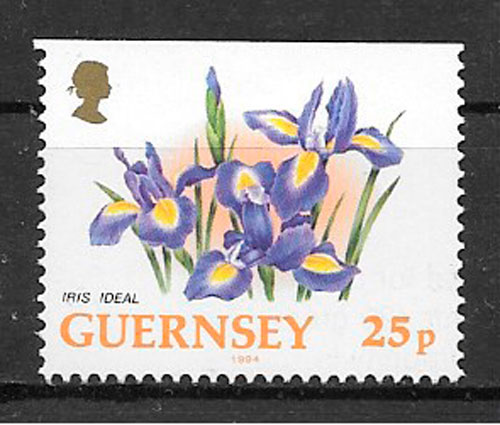 colección sellos flora Guernsey 1994
