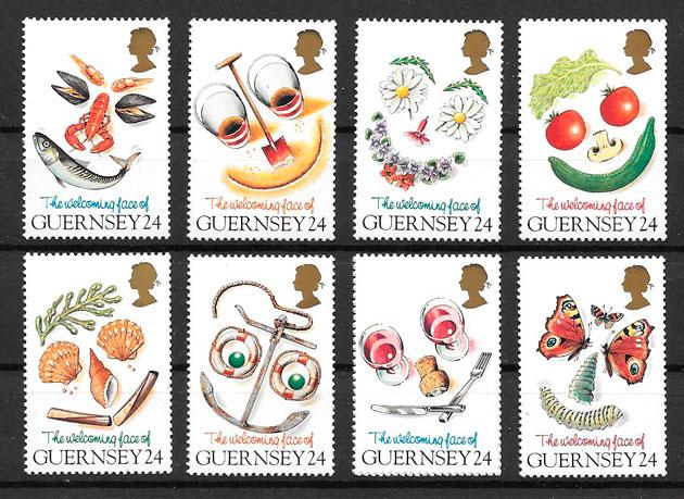 sellos frutas Guernsey 1995