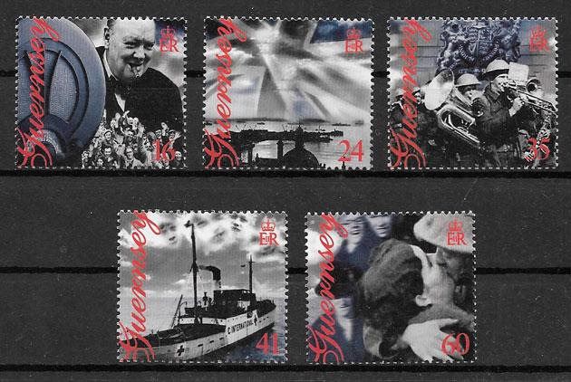 sellos temas varios Guernsey 1995