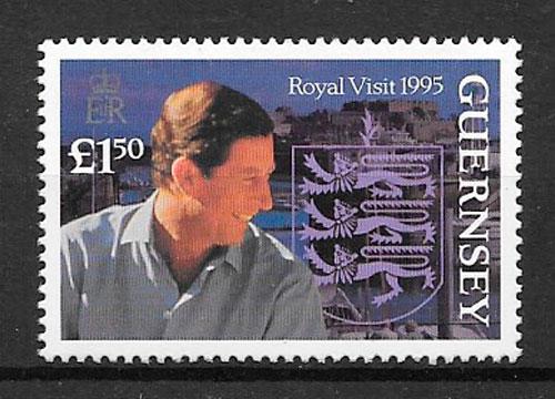 sellos personalidad Guernsey 1995