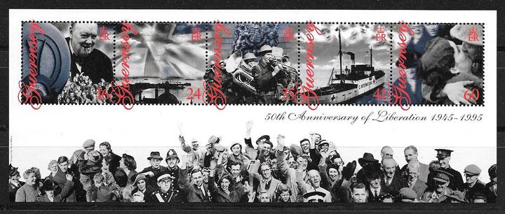sellos temas varios Guersey 1995