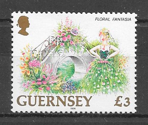 filatelia flora Guernsey 1996