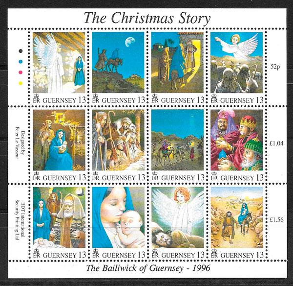 sellos navidad Guersey 1996