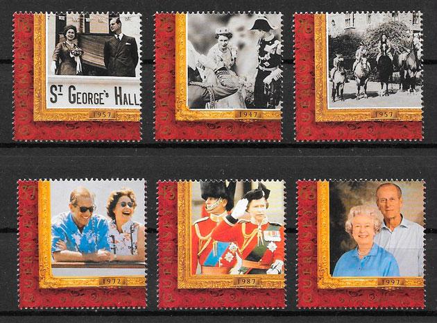 sellos personalidad Guernsey 1997