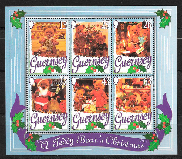 selos navidad Guersey 1997