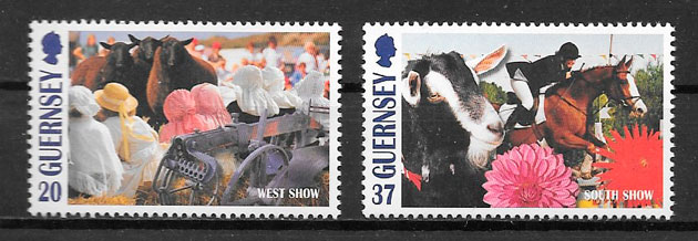 sellos arte Guernsey 1998