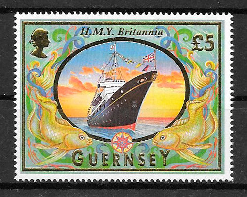 filatelia transporte Guernsey 1998