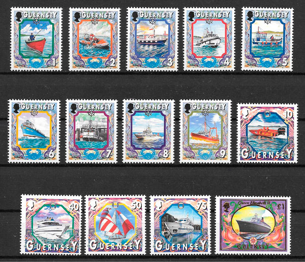 filatelia transporte Guernsey 1999