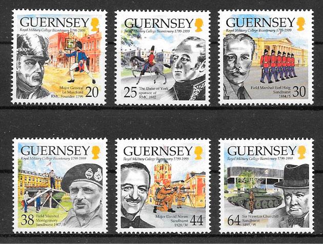 filatelia personalidad Guernsey 1990