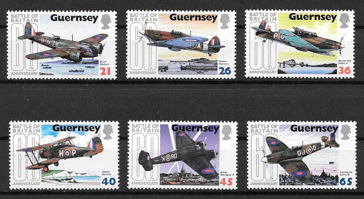colección sellos transporte Guernsey 2000