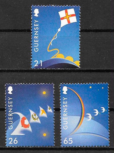 colección sellos temas varios Guernsey 2000