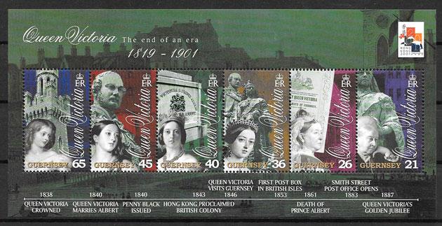 colección sellos personalidad Guersey 2001