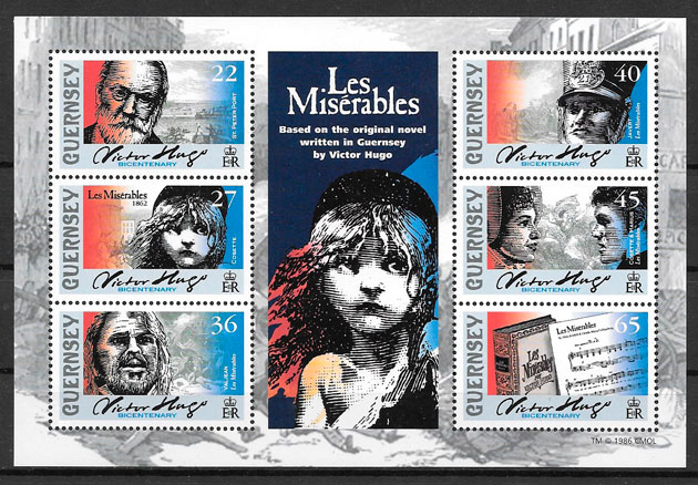 colección sellos personalidades Guersey 2002