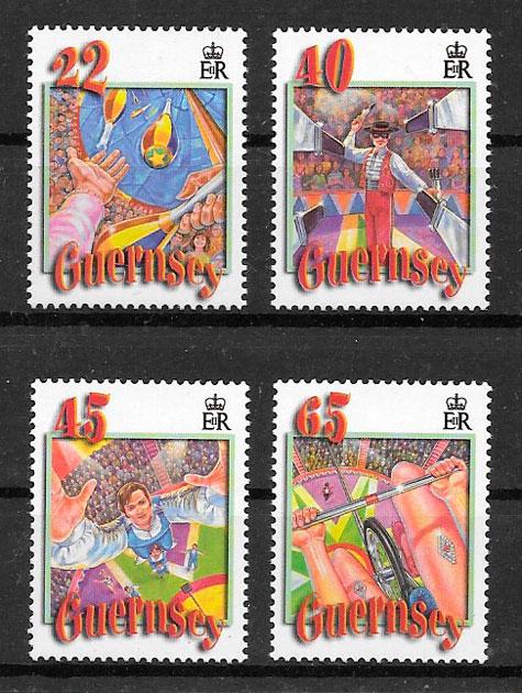 sellos arte Guernsey 2002