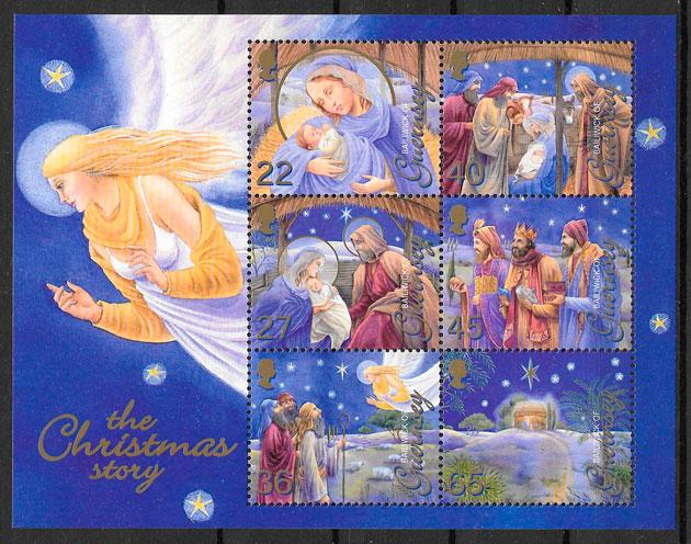 filatelia navidad Guersey 2002