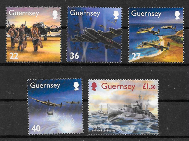filatelia transporte Guernsey 2003
