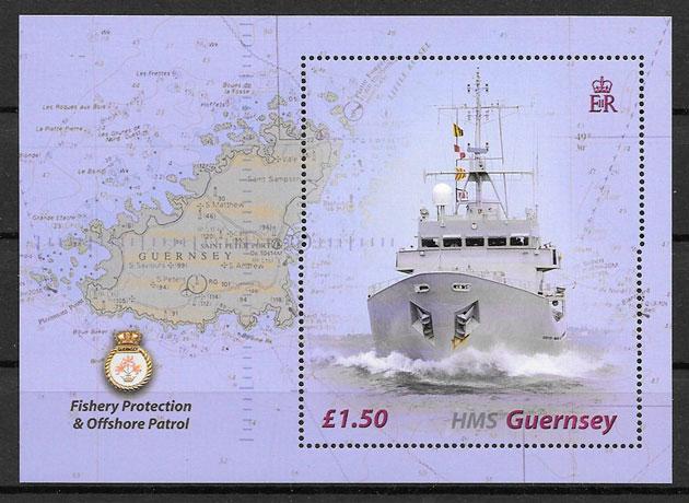 filatelia transporte Guersey 2003