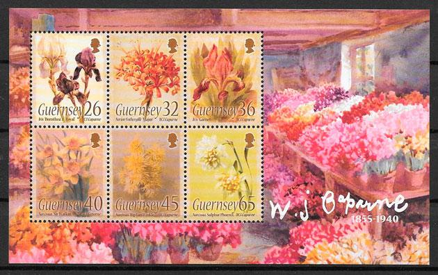 sellos flora Guersey 2005