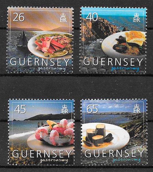 colección sellos temas varios Guernsey 2005