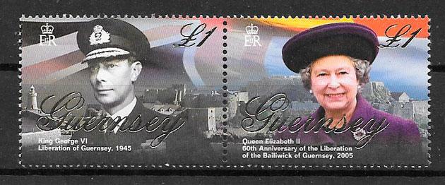 filatelia colección temas varios Guernsey 2005