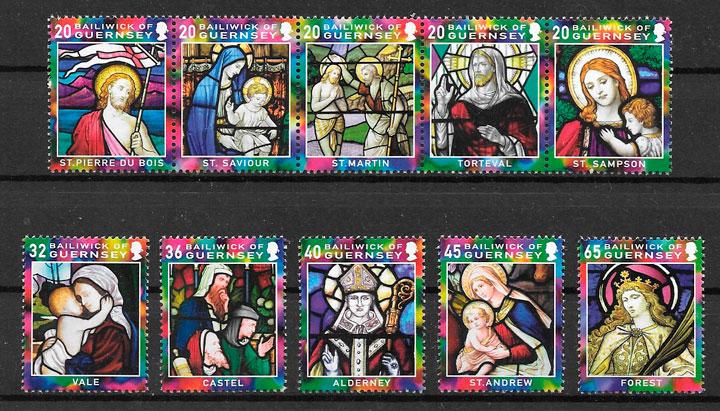 selos navidad Guernsey 2005