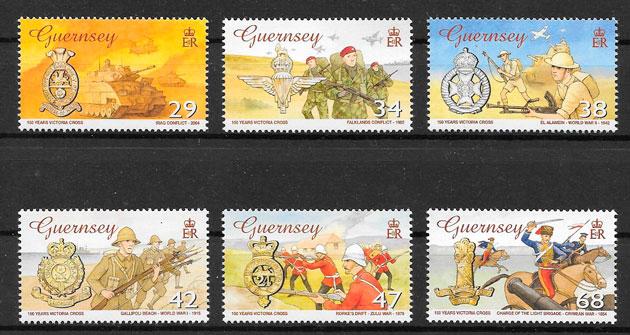 sellos temas varios Guernsey 2006