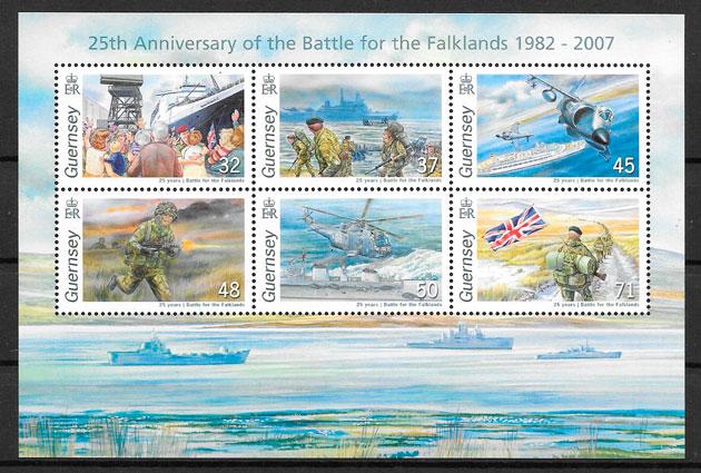 sellos temas varios Guersey 2007