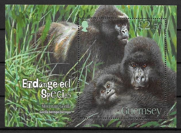 filatelia fauna Guersey 2007