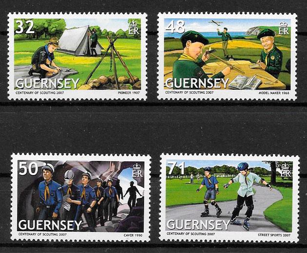 colección sellos temas varios Guernsey 2007