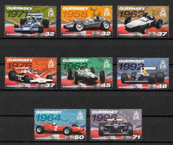 colección sellos deporte Guernsey 2007