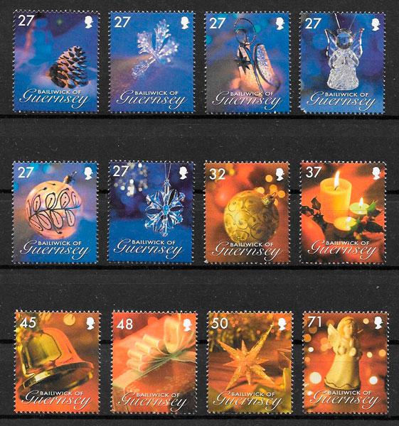 sellos navidad Guernsey 2007