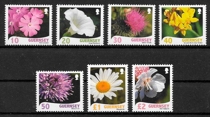 sellos flora Guernsey 2008